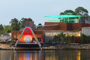 Pharos, the new wing of the Museum of Old and New Art in Hobart, which contains four new works by James Turrell.