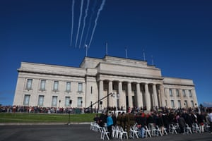 A flypast at the Auckland War Memorial Museum