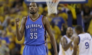 Kevin Durant almost led the Thunder past the Warriors in last season's Western Conference finals.