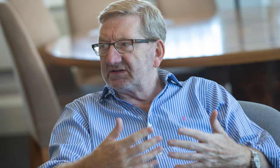Former Unite union leader Len McCluskey photographed at Unite House in London.