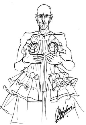 Tanel Bedrossiantz wears Jean Paul Gaultier haute couture