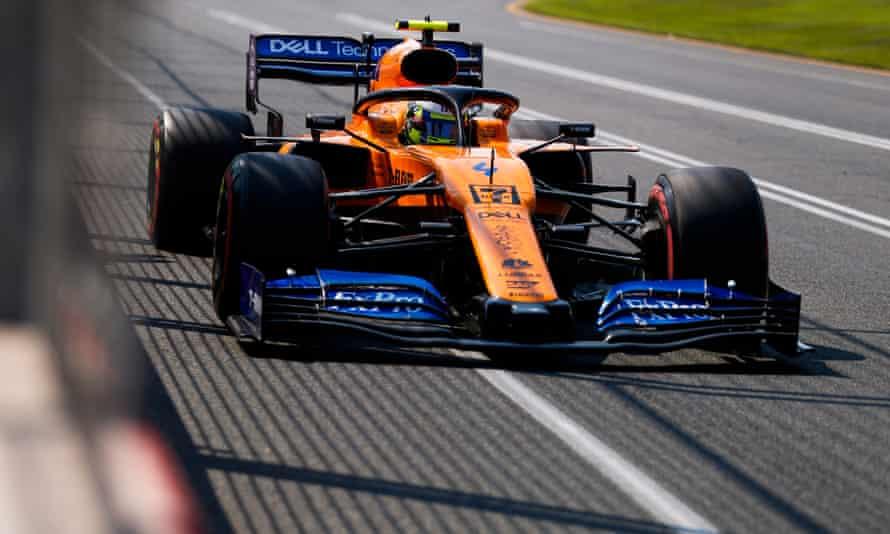 Lando Norris during qualifying for the Australian GP.