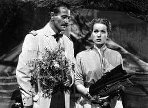 John Wayne and Maureen O'Hara in Rio Grande, 1950