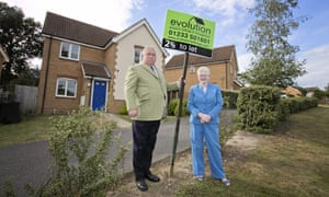 Fergus and Judith Wilson outside one of their rental properties