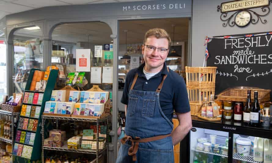 Jon Scorse, who runs the local deli in St Mawes in Cornwall.