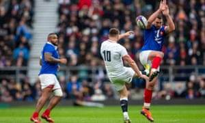 Time and again Owen Farrell and England kicked for territory leading to their one-sided win against France.
