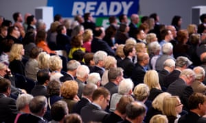 Conservatives a the party conference in 2009