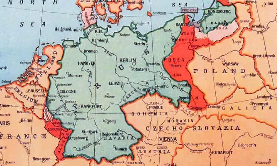 A map of Prussia, circa 1870.