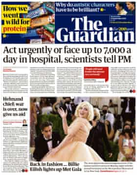 Guardian front page, 15 September 2021