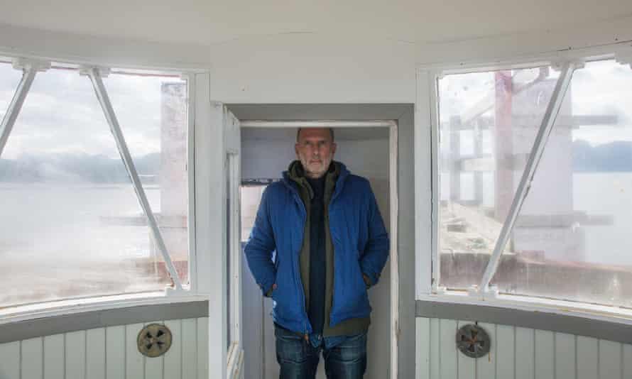 High hopes: Allan Jenkins in the lantern room.