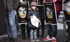 Michael Jackson fans protest against the film.