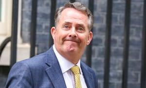 Liam Fox at Downing Street