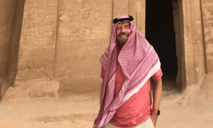 Richard Branson visiting Mada'in Saleh