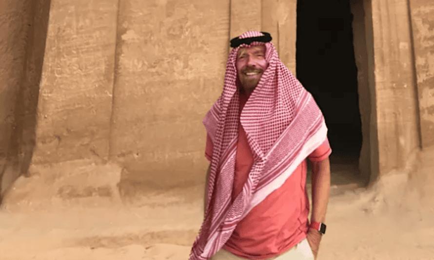 Richard Branson visiting Mada'in Saleh