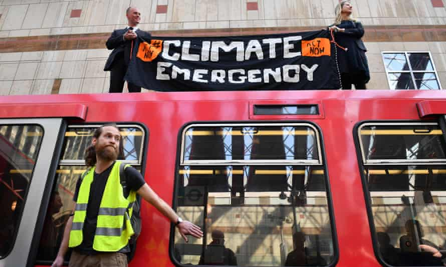 A protest by the Extinction Rebellion group in London last month