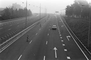 An almost empty motorway