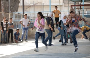 Children perform recreational activities in the Zarqa community educational centre, Zarqa, Jordan. 3/10/18