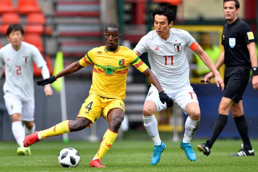 Mali's Amadou Haidara, here in action against Japan, plays for RB Leipzig.