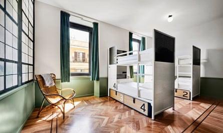 Dorm at Generator hostel, Rome
