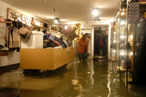 A flooded shop