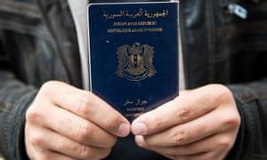 A Syrian passport