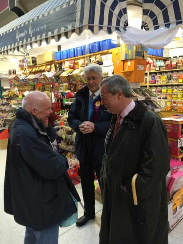 Nigel Farage, the Ukip leader, with John Bickley, his party's candidate in Oldham