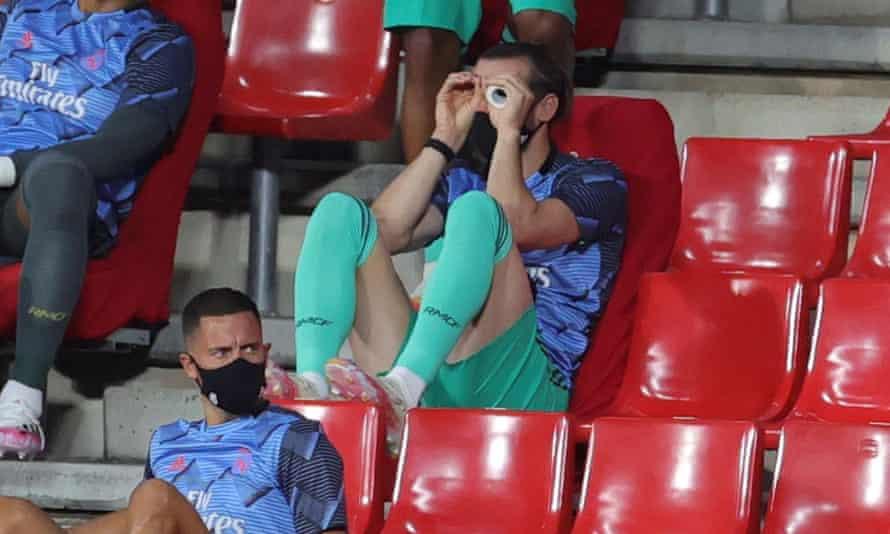 Gareth Bale in the stands at Granada