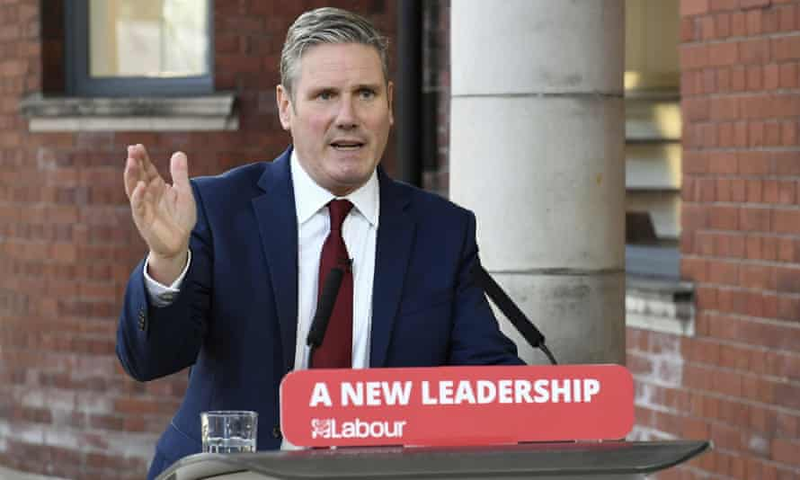 Labour leader Keir Starmer delivers his keynote speech, during the party's online conference from the Danum Gallery in Doncaster, 22 Septempber 2020.
