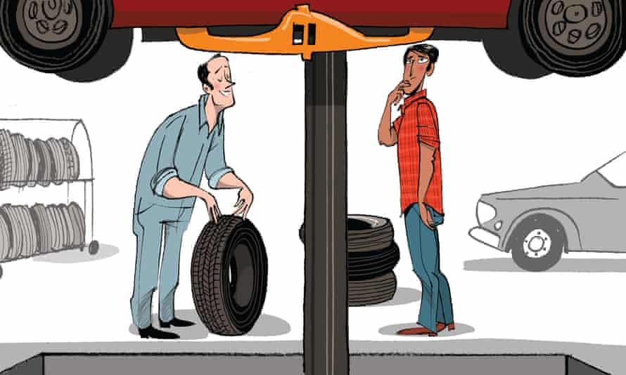 Bill Brown illustration for car tyres