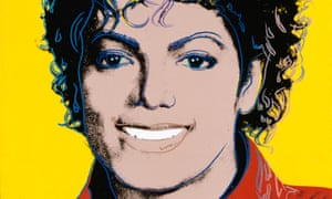 Andy Warhol's 1984 portrait of  Michael Jackson
