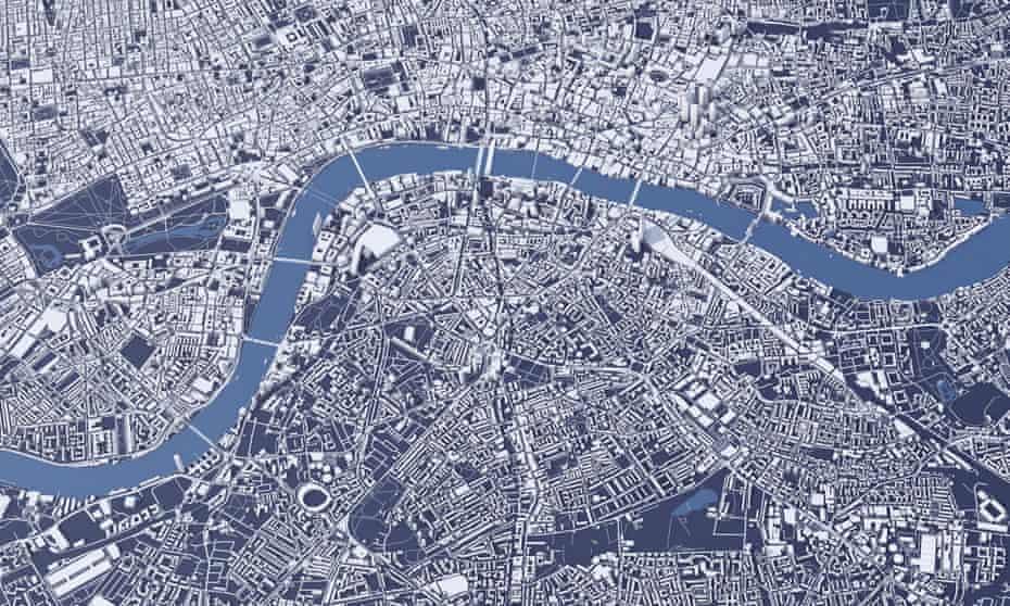 Map of central London showing bridges