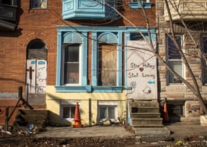 A vacant house in Baltimore.
