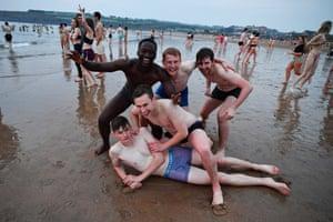 Students at the May Day dip