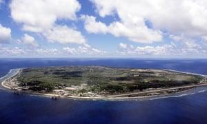 aerial shot of Nauru