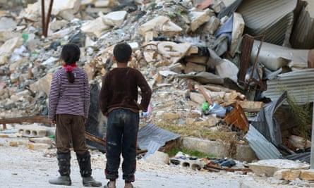 Children in Aleppo, Syria, November 6 2016.