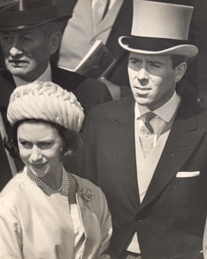 Princess Margaret and her husband the Earl of Snowdon at Epsom for the Derby, 1962