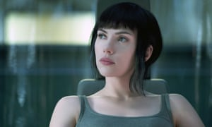 Spectacular sci-fi ... Scarlett Johansson in Ghost in the Shell.