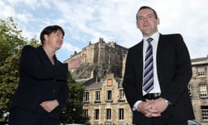 Ruth Davidson, left, with Douglas Ross in Edinburgh