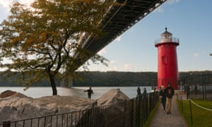 The Little Red Lighthouse in Fort Washington Park, New York, NY