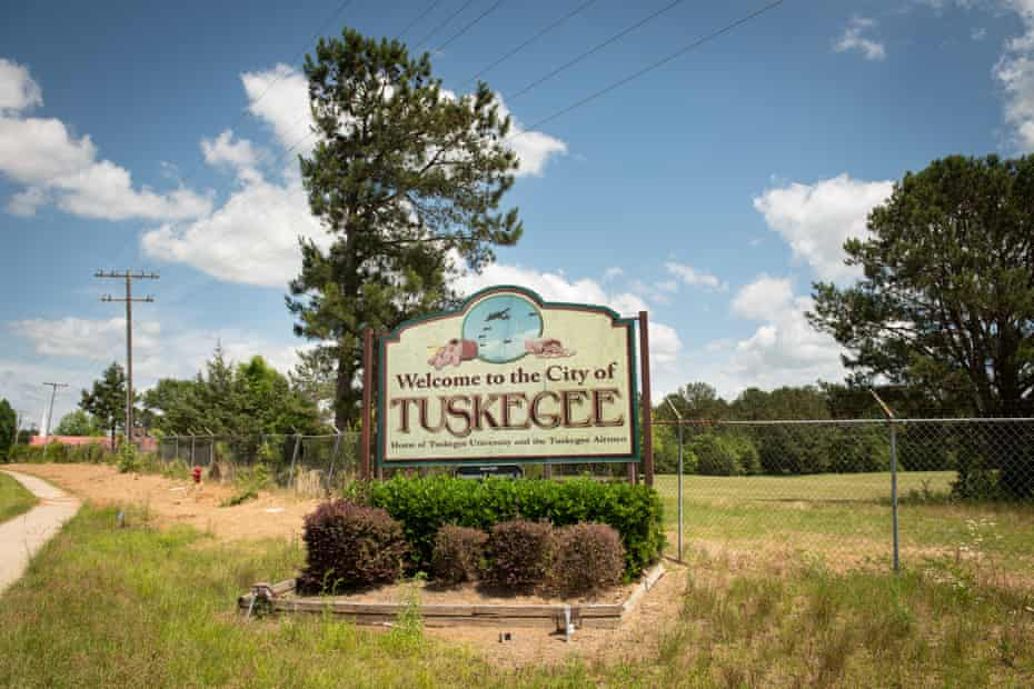 Welcome sign on highway approaching The City of Tuskegee, Alabama on Thursday, May 20, 2021.
