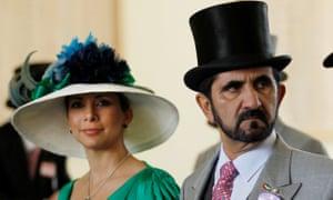 Princess Haya and Sheikh Mohammed pictured at Royal Ascot.