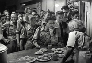 British soldiers at a canteen in the Suez Canal Zone, 1951