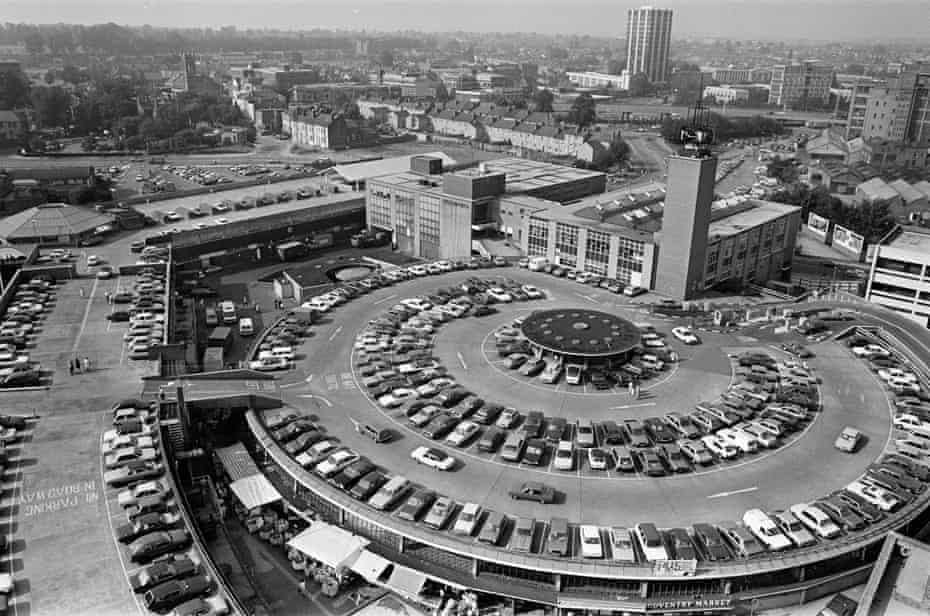 Motor city … the listed City Arcade car park in 1985.