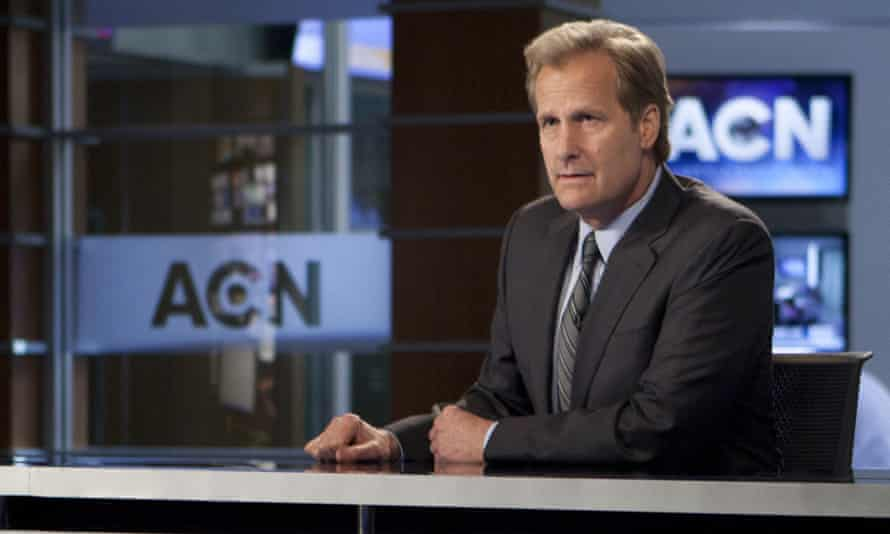 Rooting against him is a joy: Will McAvoy (Jeff Daniels) in The Newsroom.