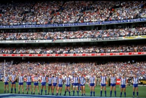 North Melbourne line up at the MCG