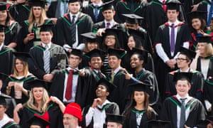 Students at Aberystwyth University on graduation day