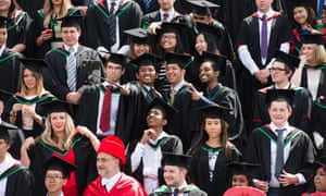 Overseas students at Aberystwyth University in 2014.