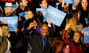 US-POLITICS-ELECTION-VOTE<br>Democratic supporters go wild as news of democrats taking the house is given during the Election Day Massachusetts Democratic Coordinated Campaign Election Night Celebration at the Fairmont Copley Hotel in Boston, MA on November 6, 2018. - Democrats seized control of the lower house of Congress in midterm elections on November 6, 2018, dealing a stern rebuke to Donald Trump almost two years into his polarizing, rollercoaster presidency. Fox and NBC television networks called the result in the US House of Representatives, while confirming expectations that Trump's Republicans will retain control of the Senate. (Photo by Joseph PREZIOSO / AFP)JOSEPH PREZIOSO/AFP/Getty Images