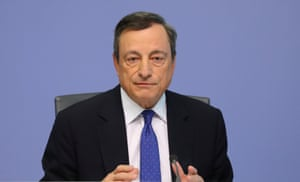 ECB President Draghi today.
