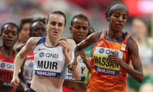 Sifan Hassan leads Laura Muir